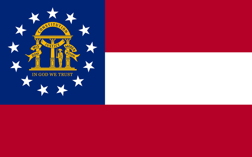 Georgia State Information Symbols Capital Constitution Flags - Georgia map enchanted learning