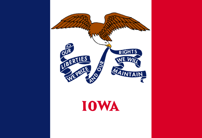 Iowa State Information – Symbols, Capital, Constitution, Flags, Maps, Songs