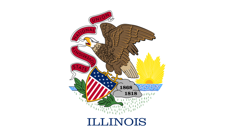 Illinois State Information Symbols Capital Constitution Flags