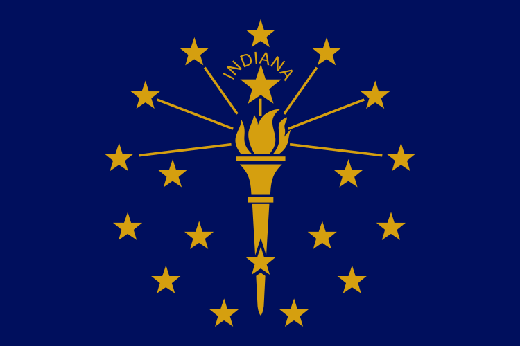 Indiana State Information Symbols Capital Constitution Flags - Us state facts map and state symbols