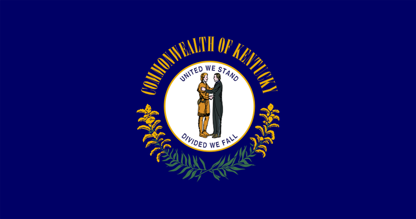 Kentucky State Information Symbols Capital Constitution Flags - Us state facts map and state symbols