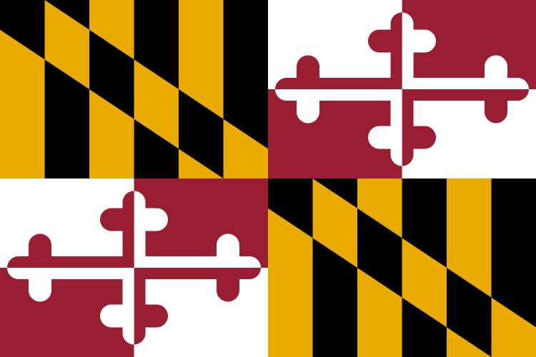 Maryland State Information Symbols Capital Constitution Flags