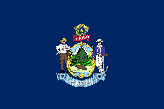 Maine State Information Symbols Capital Constitution Flags