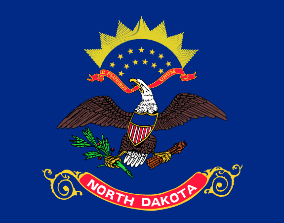 North Dakota State Flag. State Flag