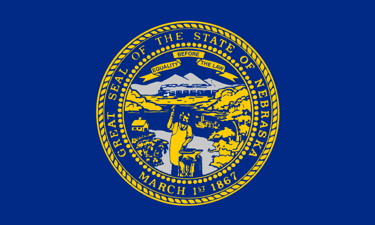 Nebraska State Information Symbols Capital Constitution Flags