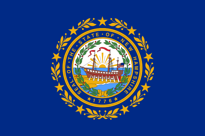 New Hampshire State Information Symbols Capital Constitution