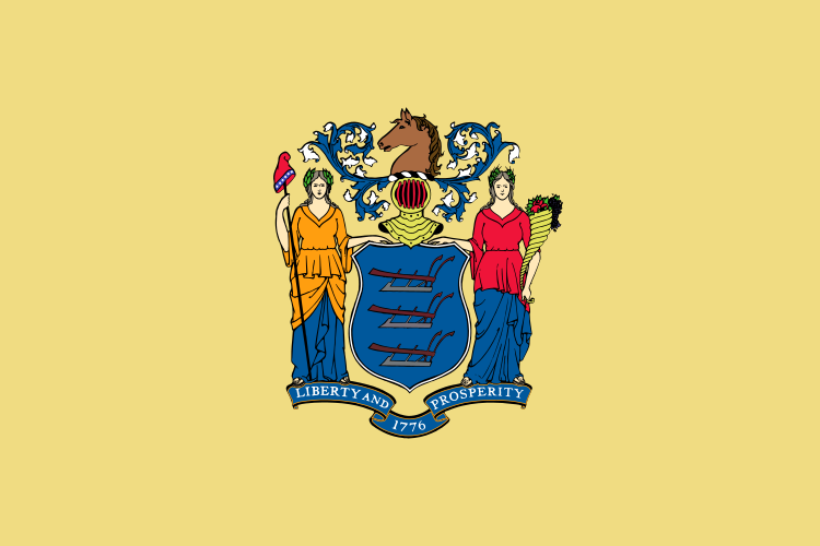 New Jersey State Information Symbols Capital Constitution Flags