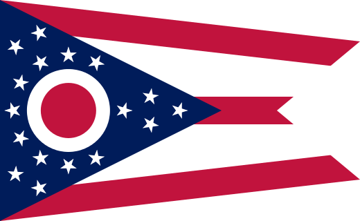 Ohio State Information Symbols Capital Constitution Flags - Us map with capitals and states