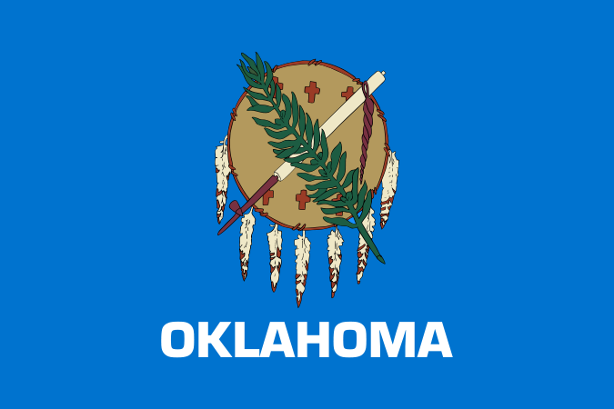 Oklahoma State Information Symbols Capital Constitution Flags