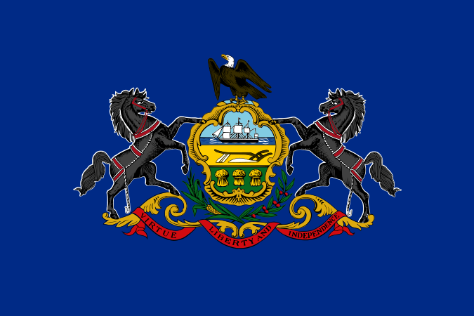 Pennsylvania State Information Symbols Capital Constitution