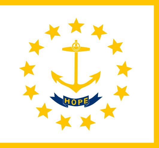 Rhode Island State State Flag Rhode Island