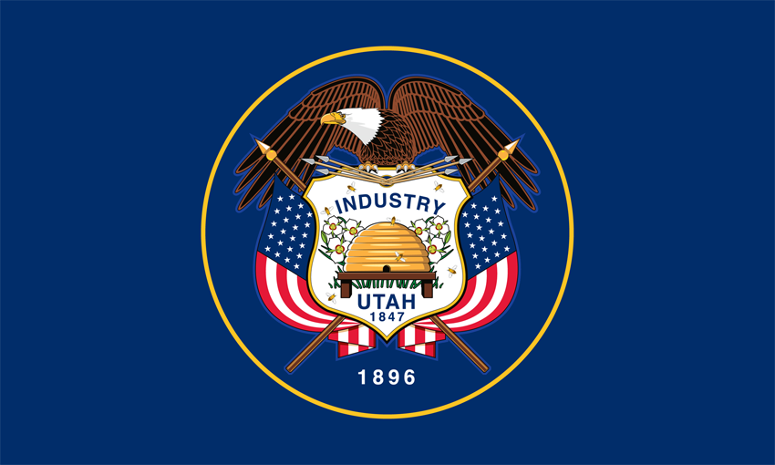 Utah State Information Symbols Capital Constitution Flags Maps
