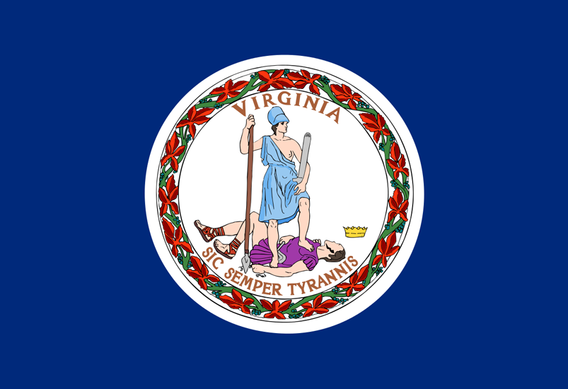 Virginia State Information Symbols Capital Constitution Flags