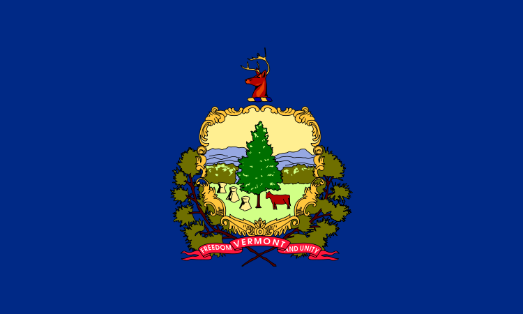 Vermont State Information Symbols Capital Constitution Flags