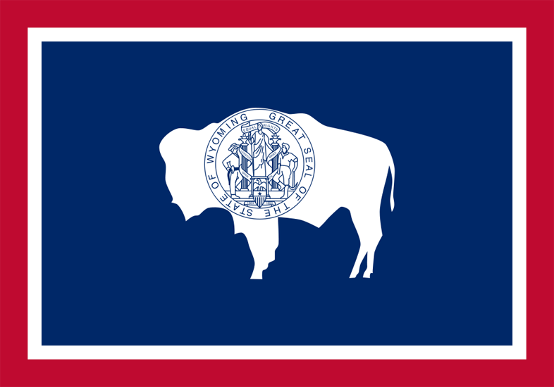 Wyoming State Information Symbols Capital Constitution Flags