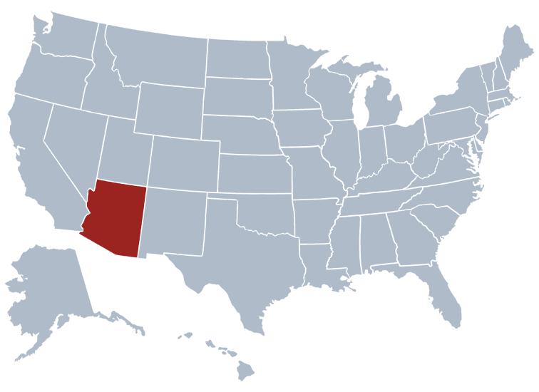 Arizona Map United States