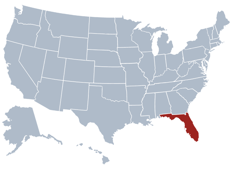 States Around Florida State Flag Florida State Seal