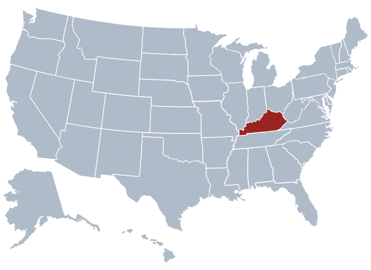 Kentucky In The Us Map MAP - Us map of kentucky