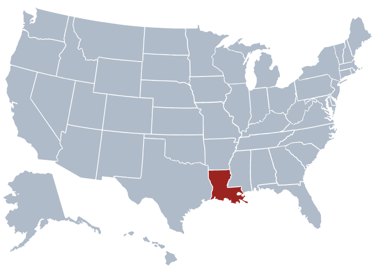 louisiana state map location