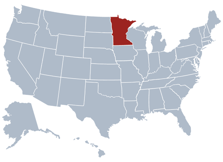 Minnesota State Map Location