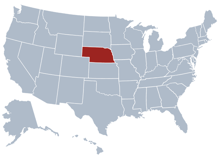 Nebraska State Information Symbols Capital Constitution Flags - Nebraska on the us map