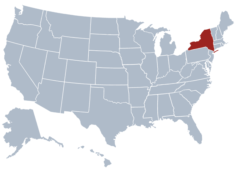 State Map Of New York.New York State Information Symbols Capital Constitution Flags