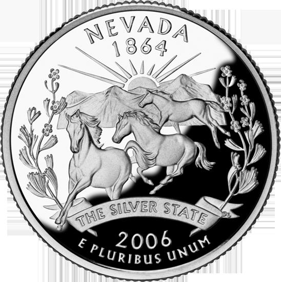 California Colleges And Universities >> Nevada State Quarter - 50States.com