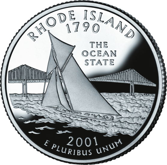 West Virginia Colleges >> Rhode Island State Quarter - 50States.com