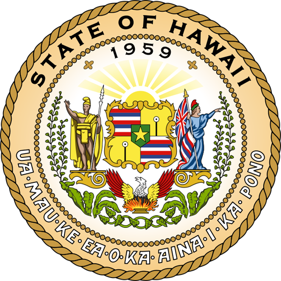 Hawaii State Information Symbols Capital Constitution Flags