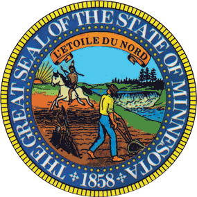 The state seal of Minnesota.