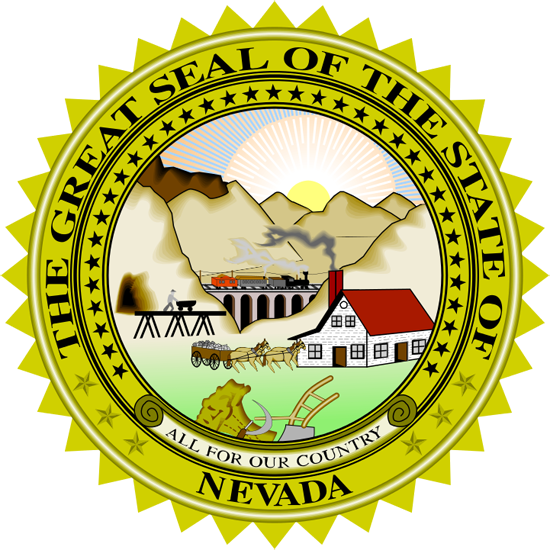 Nevada State Information Symbols Capital Constitution Flags