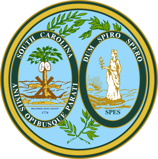 South Carolina State Information Symbols Capital Constitution