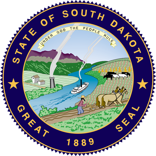 'State Seal' from the web at 'http://www.50states.com/images/redesign/seals/sd-largeseal.png'
