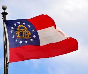 Georgia flag flying
