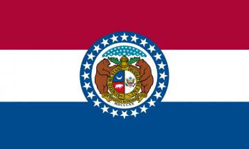 Missouri state flag flat