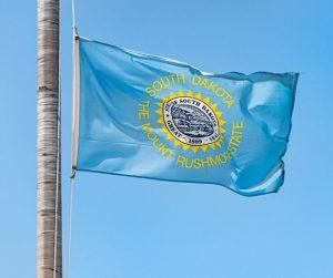 South Dakota State Flag Flying