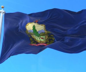 Vermont State Flag Flying