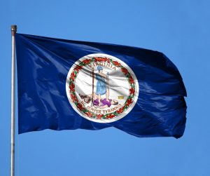Virginia State Flag Flying