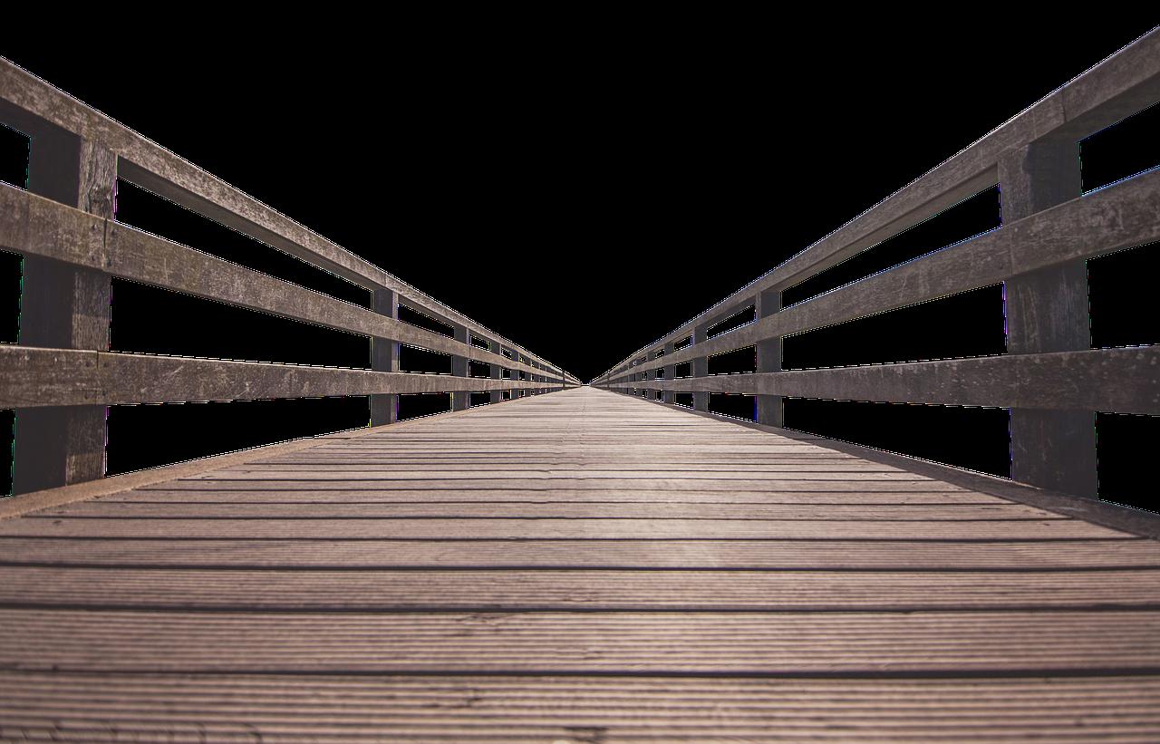a new wooden bridge