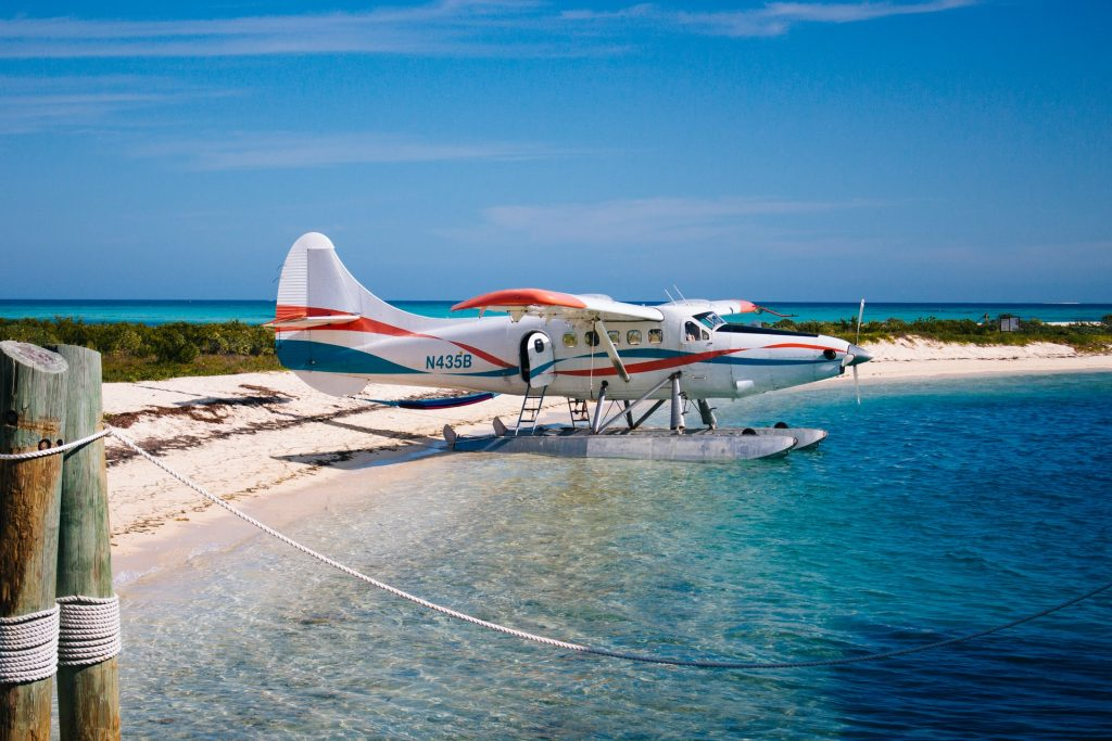 A seaplane at Dry Tortugas National Park