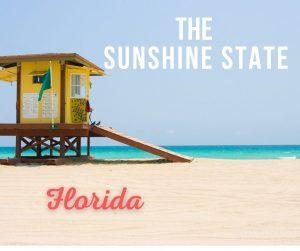Little cabana on the beach in Florida